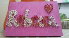 Rebecca - string art  Quadretto in vendita. Possibilità di personalizzazione, grandezza 13x18.  10,00€ spese di spedizione escluse