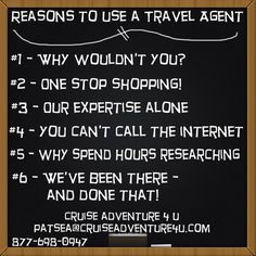 Use a Travel Agent...keep business local!