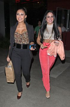 JoJo - JoJo and Francia Raisa Leaving BOA Steakhouse in Hollywood