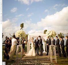 An Outdoor Jamaican Wedding on the Croquet Lawn at Half Moon #iconicwedding http://www.HalfMoon.RockResorts.com #beachwedding