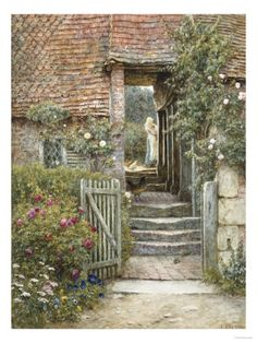 Under the Old Malthouse, Hambledon, Surrey Art Print at AllPosters.com