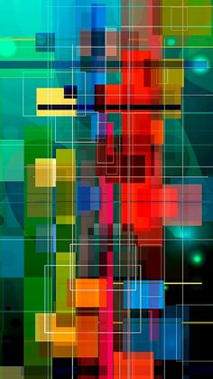 Geometric Color Mosaic Wallpaper