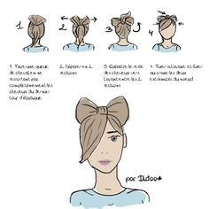 Hairy bow! I'm so trying this!!  I hate having to come up with cute ways to wear my hair up for work all the time!