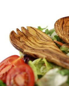 "Salatbesteck ""Belvedere"" aus Olivenholz 30 cm | treevoli"