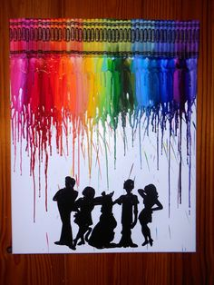 Scooby Doo & the Gang Melted Crayon Painting by OnceUponACrayon, $35.00