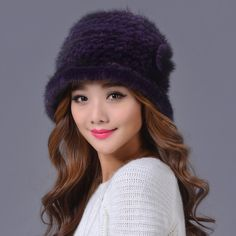 3b2fbb7bbb5ac 2015 Korean New Winter Women Casual Beanie Mink Fur Hat Warm Thick Mixed  Colors Knitted Mink Fur HatS For Ladies 19559-in Skullies   Beanies from  Women s ...