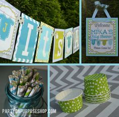 It's a Boy Baby Shower Party Decoration