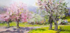 Original landscape art | Yuri Pysar / Spring / 90 x 190 cm / oil on canvas / 2016