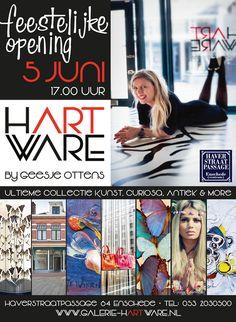 Opening 'NIEUWE WINKEL' in de #Haverstraatpassage 64 - Galerie Hart Ware  Vrijdag 5 juni a.s. om 17.00 uur #Enschede. centrum