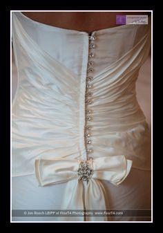Back detail of wedding dress