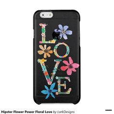 Hipster Flower Power Floral Love Uncommon Clearly™ Deflector iPhone 6 Case