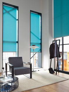 Luxaflex Roller Blinds look modern & chic in this office environment. www.luxaflex.co.uk/products/indoor/roller-blinds/