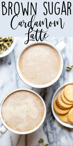 How to make a Brown Sugar Cardamom Latte at home without any fancy equipment. Tr… How to make a Brown Sugar Cardamom Latte at home without any fancy equipment. Try an alternative to the Pumpkin Spice Latte for fall! Café Latte, Latte Macchiato, Dessert Party, Smoothies, Smoothie Recipes, Mini Desserts, Plated Desserts, French Desserts, Yummy Drinks