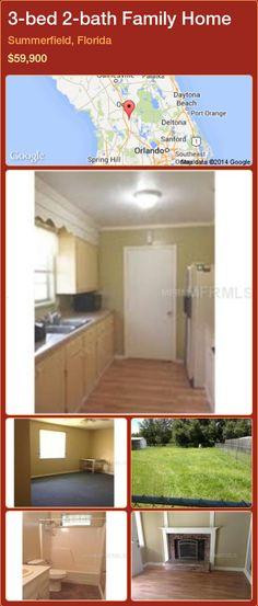 3-bed 2-bath Family Home in Summerfield, Florida ►$59,900 #PropertyForSaleFlorida http://florida-magic.com/properties/34045-family-home-for-sale-in-summerfield-florida-with-3-bedroom-2-bathroom