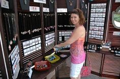 Here is a close up of how shutters were turned into a jewelry display for a craft show.