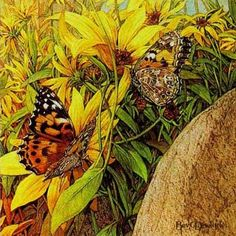 Painted ladies, by Bev Doolittle