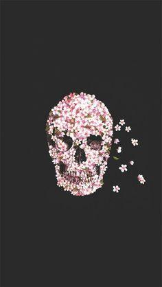 WhatsApp Wallpapers Flower Skull