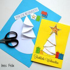 Die Weihnachtskarten sind endlich fertig- pünktlich zum 4. Advent bereit, morgen in den Briefkasten geworfen zu werden. Falls Ihr noch schnell ein paar Karten nachbasteln wollt, hier findet Ihr die Anleitung dazu. http://inesfelix-kreativ.blogspot.com/2016/12/die-weichnachtskarten-sind-fertig.html