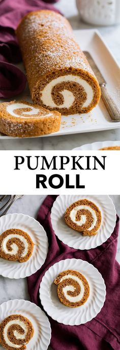 Best Pumpkin Roll Recipe - Cooking Classy Pumpkin Roll - this is the ultimate fall dessert! A pillowy soft and tender pumpkin cake is covered with a rich cream cheese filling then rolled, chilled and sliced for a gorgeous show-stopping dessert! Oreo Dessert, Pumpkin Dessert, Pumkin Cake, Pumpkin Roll Cake, Köstliche Desserts, Delicious Desserts, Dessert Healthy, Dessert Recipes, Autumn Desserts
