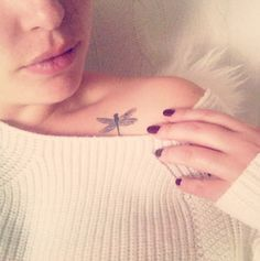 small dragonfly tattoo #ink #youqueen #girly #tattoos #dragonfly @youqueen