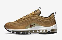 check out 5518b 517c2 Release Info On The Nike Air Max 97 Metallic Gold Sneakers Mode, Skor  Sneakers,