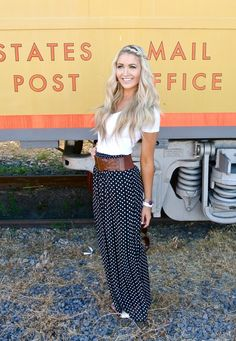 Polka Dot Maxi Skirt.