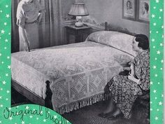 1934 Bucilla Book # 76 Bedspread Creations delivered in PDF format. Patterns include: Spider Web Popcorn Bedspread No. 662 & Pillow Ptn Popcorn Filet Basket Bedspread No. 663 & Pillow Ptn Rose Leaf Bedspread No. 667 & Pillow Ptn Two-Tone Diamond Popcorn Bedspread No. 666 & Pillow Ptn Irish Rose Popcorn Bedspread No. 664 & pillow ptn All of the Above come with Matching Pillow Crochet patterns. Bucilla Book # 76 Original Bucilla Bedspread Creations , printed originally by ...
