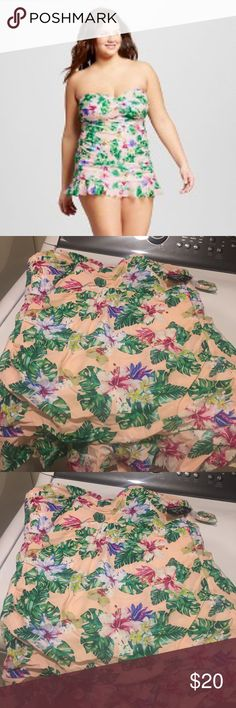 NWT Tropical swim dress Pink and Green swimdress Never Worn NWT Cute Swimsuit Swim One Pieces