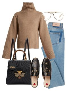 """Untitled #1900"" by emmastrouse ❤ liked on Polyvore featuring Khaite, Gucci and CÉLINE"