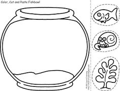 Fish bowl pattern. Use the printable outline for crafts, creating ...