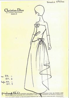 Christian Dior Haute Couture evening gown named Soirée à Athènes ensemble from spring/summer 1961  collection by designer Marc Bohan. Strapless gather dress with adjustable strap with bow on the bodice with long matching wrap shawl made from patterned silk fabric. House of Dior.