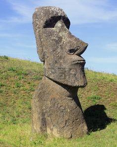 Moai statue sur l'île de Pâques Chili