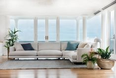 The Santa Monica comes in over 40 fabrics and leathers options, 4 timber stains and 2 seat depths to select from... If only it came with the view too! // visit our website for more details  #takemetothewestcoast #couch #lounge #modular #modularsofa #cornersofa #coastal #casual #santamonica