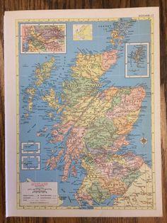 New brunswick nova scotia and pei maps pinterest ireland or scotland large map 1955 hammonds new supreme world atlas vintage gumiabroncs Choice Image