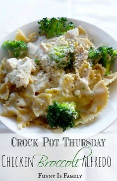 Crock Pot Thursday: Chicken Broccoli Alfredo