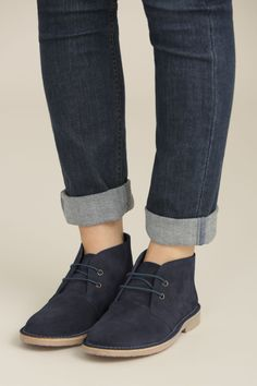 Beautiful, Practical Clothing, Accessories & Footwear – designed in Cornwall for women everywhere. Free P&P and returns. Sock Shoes, Cute Shoes, Me Too Shoes, Suede Boots, Ankle Boots, Clarks Boots, Navy Boots, Suede Leather, Leather Sandals