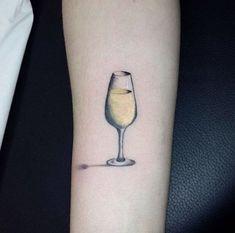 13 Adorable and Tiny Boozy Tattoos