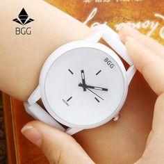 Hot Sale Fashion Big Dial Wrist Watches 2016 New Design Creative Quartz Watch Men Women Lover Clock With Silicone Strap White Casual Watches, Cool Watches, Wrist Watches, Watches For Men, Women's Watches, New Fashion Trends, Style Fashion, Fashion Group, Retro Fashion