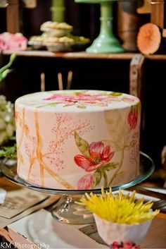 This #weddingcake looks like it's been water-colored I The Baker's Table I See more @WeddingWire