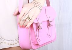 Candy pink cambridge satchel. Details In Streetstyle