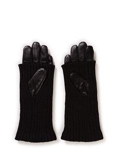Maya Copenhagen Leather & knit glove