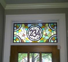 Stained Glass Transom Window - Colorful and Contemporary