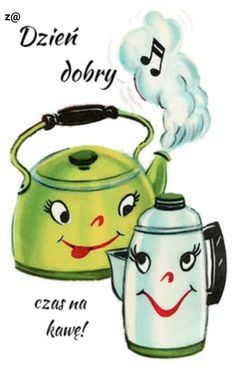 """""""Coffee and Tea Pots. Coffee Talk, I Love Coffee, My Coffee, Coffee Pics, Sweet Coffee, Happy Coffee, Good Morning Funny, Good Morning Coffee, Vintage Cards"""