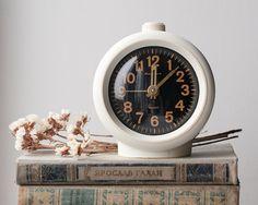 Working Vintage Alarm Clock  Black and White by OldTimeStories