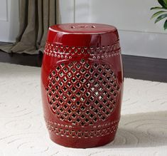 Merveilleux An Ancient Eastern Classic, This Bold, Oxblood Red Garden Stool Makes A  Rich Room