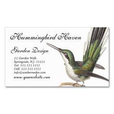 hummingbird cards garden designer gift shop etc business card this great business - Garden Design Business Cards