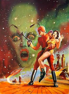 by Basil Gogos - Ahh space, where scantily clad women are rescued by fully clothed men.