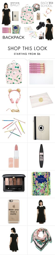 """""""In my bag"""" by veronka2001 ❤ liked on Polyvore featuring H&M, Eos, Natico, Rimmel, Maybelline, Guerlain, Lilly Pulitzer, Casetify, Emilio Pucci and backpack"""