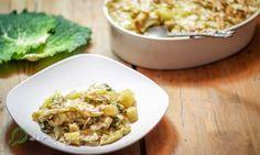 Wirsingauflauf mit Kartoffel-Mandelkruste