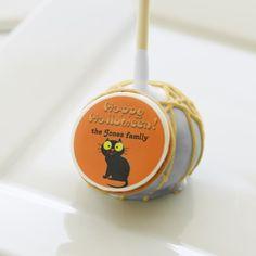 personalized halloween treats cartoon black cat cake pops